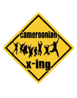 Cameroonian X-ing Free ( Xing ) Crossing Sign
