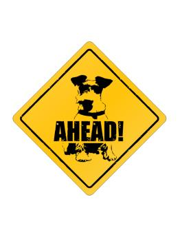 """  Fox Terrier  AHEAD !  "" Crossing Sign"