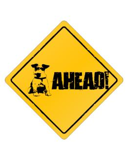"""  Fox Terrier - AHEAD !  "" Crossing Sign"