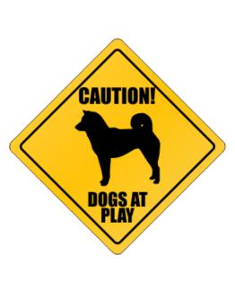 """ Dogs at play Shiba Inu "" Crossing Sign"