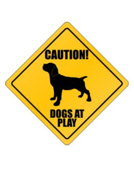 """ Dogs at play Cane Corso "" Crossing Sign"