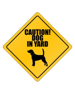 """ Dog in Yard Beagle "" Crossing Sign"
