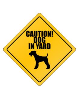 """ Dog in Yard Fox Terrier "" Crossing Sign"