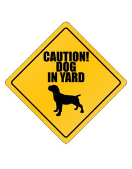 """ Dog in Yard Cane Corso "" Crossing Sign"