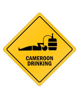 Drinking Cameroon Crossing Sign