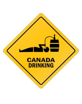 Drinking Canada Crossing Sign