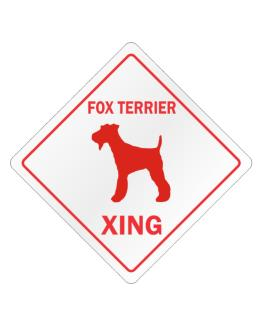 Fox Terrier Xing Crossing Sign