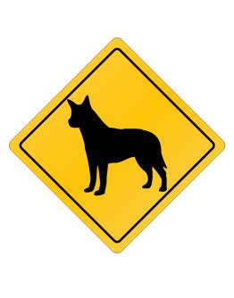 Australian Cattle Dog Crossing Sign Crossing Sign
