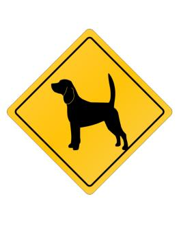 Beagle Crossing Sign Crossing Sign