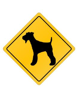 Fox Terrier Crossing Sign Crossing Sign
