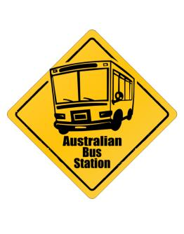 Australian Bus Station Crossing Sign