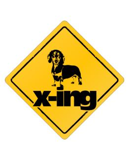 Dachshund X-ing Crossing Sign