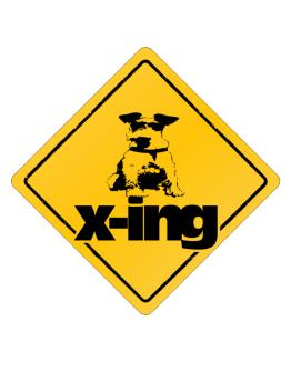 Fox Terrier X-ing Crossing Sign