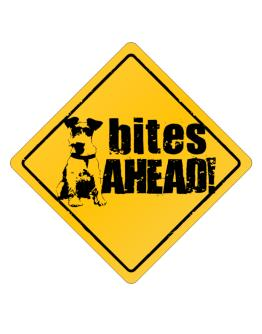 Fox Terrier Bites Ahead izquierda Crossing Sign