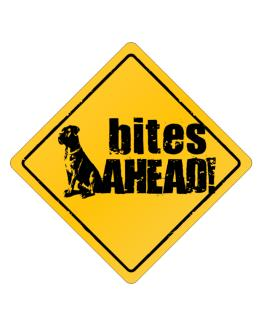 Cane Corso Bites Ahead izquierda Crossing Sign
