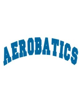 Aerobatics Athletic Parking Sign