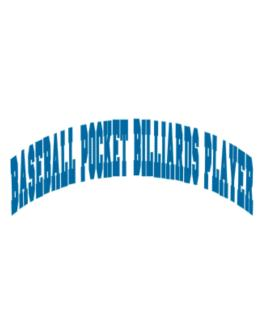 Baseball Pocket Billiards Player Athletic Parking Sign