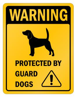 Beagle Protected By Guard Dogs Parking Sign
