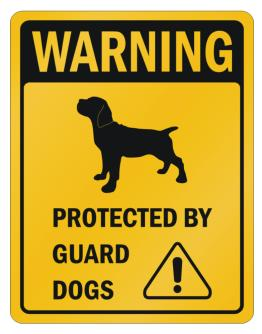 Cane Corso Protected By Guard Dogs Parking Sign