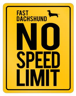 """ FAST Dachshund - NO SPEED LIMIT NONE "" Parking Sign"