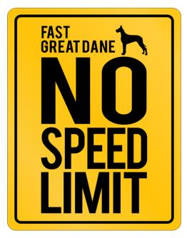 """ FAST Great Dane - NO SPEED LIMIT NONE "" Parking Sign"