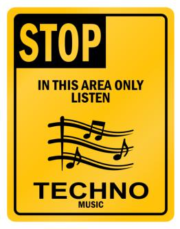 Parking Sign de Stop Techno Music