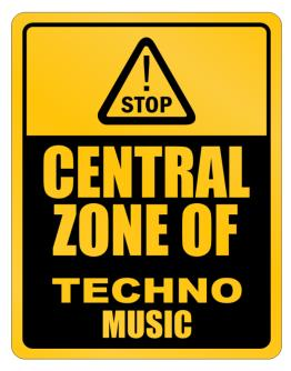 Parking Sign de Central Zone of Techno Music
