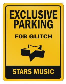Exclusive Parking Glitch Stars Parking Sign