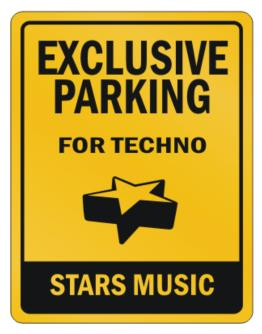 Parking Sign de Exclusive Parking Techno Stars