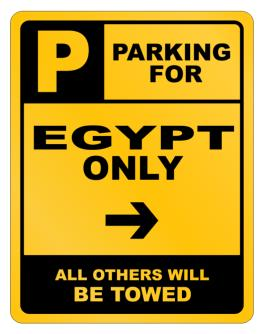 Parking For Egypt Only Parking Sign