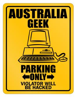Australia Geek - computer Parking Sign