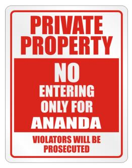 Private Ananda Prosecuted Parking Sign