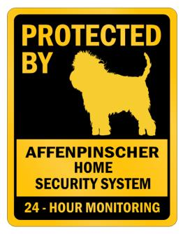 Protected by Affenpinscher Home Parking Sign