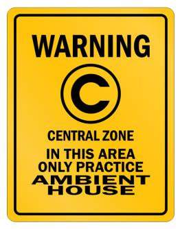 Warning In this area only practice Ambient House Parking Sign