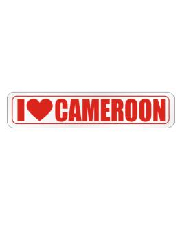 I Love Cameroon Street Sign