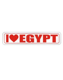 I Love Egypt Street Sign