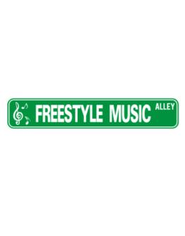 Freestyle Music Alley Street Sign