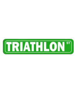Triathlon SIMPLE STREET Street Sign