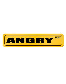 angry Way Street Sign