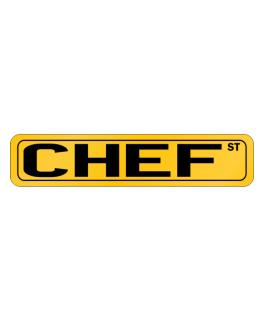 Chef Street Street Sign