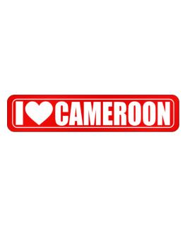 I Love Cameroon Simple Street Sign