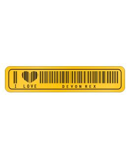 I Love Devon Rex  Barcode Street Sign