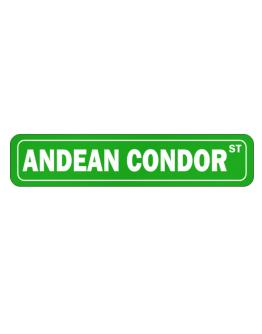 Andean Condor Street Street Sign