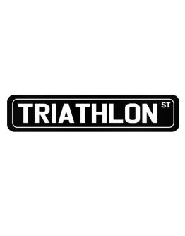 Triathlon Street Street Sign