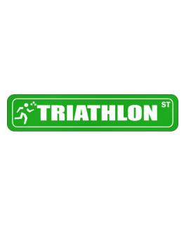 Triathlon Street  Stickman Street Sign