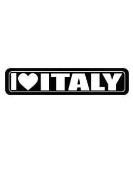 Street Sign de I Love Italy country names 2