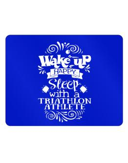 Wake up happy sleep with a Triathlon Athlete Parking Sign - Horizontal
