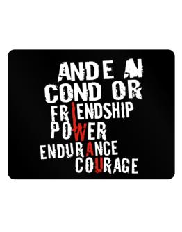 Andean Condor - Friendship, Power, Endurance, Courage Parking Sign - Horizontal
