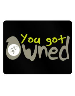 You Got Owned Triathlon Parking Sign - Horizontal