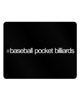 Hashtag Baseball Pocket Billiards Parking Sign - Horizontal